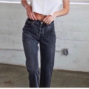 LEVIS • Vintage Orange Tab 950 High Waist Relaxed Fit Tapered Leg Black Jeans